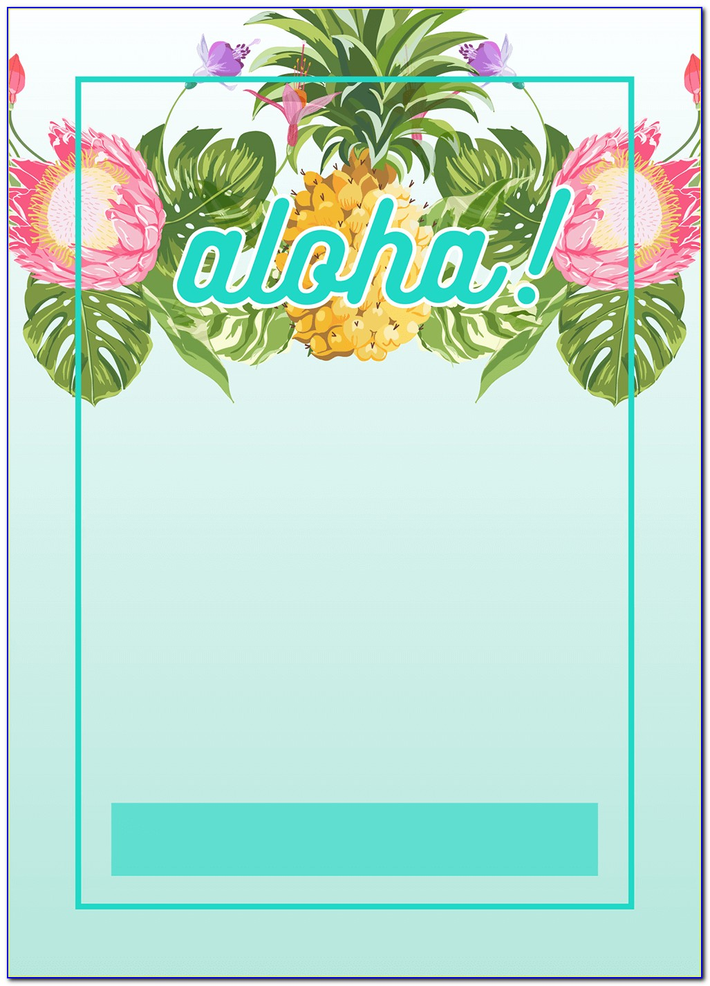 Luau Baby Shower Invitation Template Free