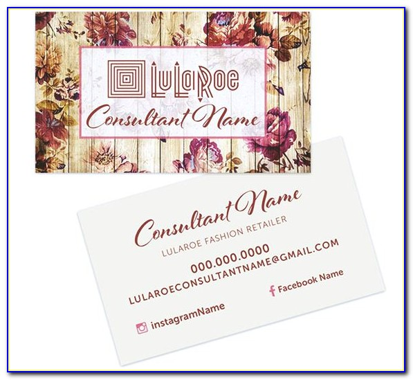 Lularoe Business Card Template Free