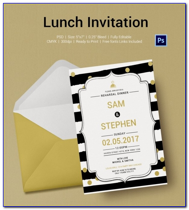 Lunch Invitation Template Email
