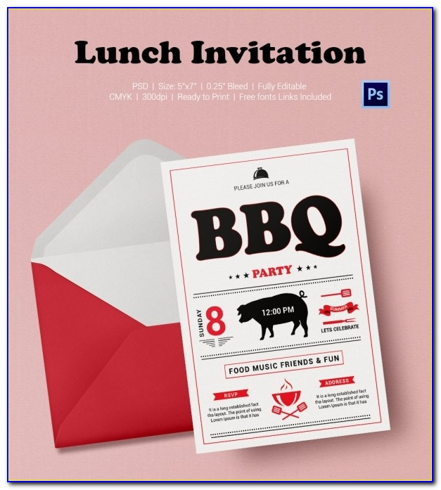 Lunch Invitation Templates Free