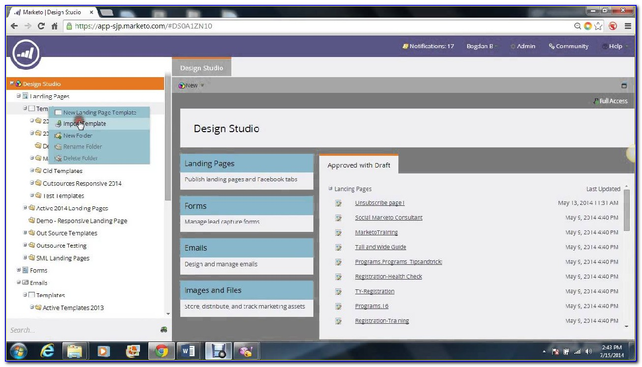 Marketo Landing Page Template Library