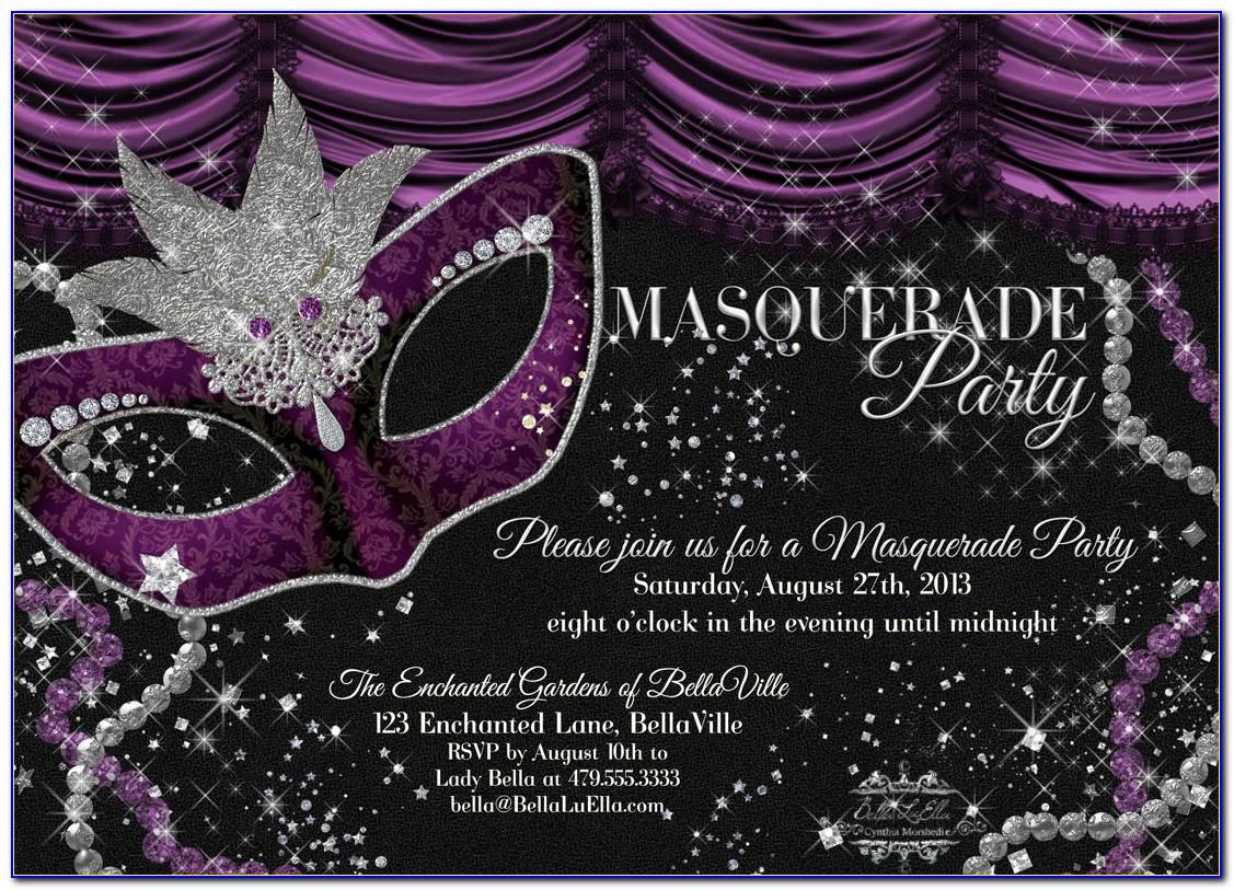 Masquerade Invitation Template Free