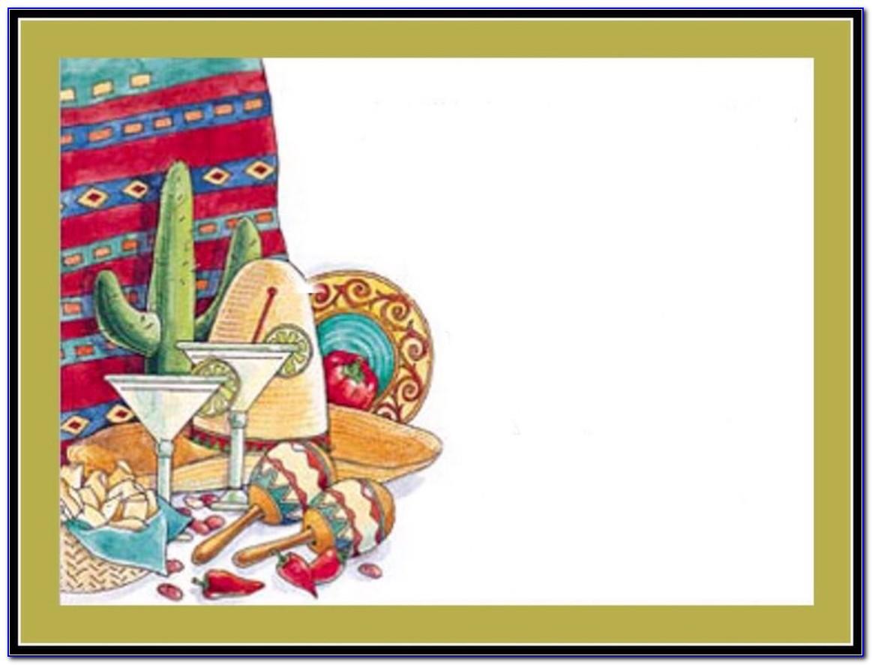 Mexican Fiesta Invitation Template Free