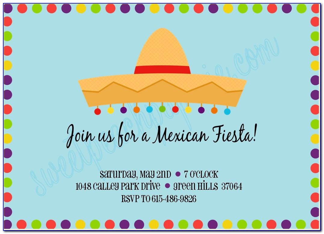 Mexican Fiesta Invitation Template
