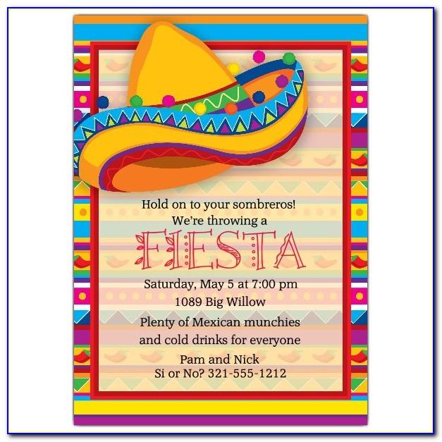 Mexican Invitation Template