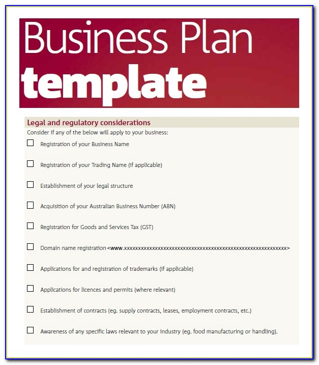 Microsoft Word Business Plan Template Free Download