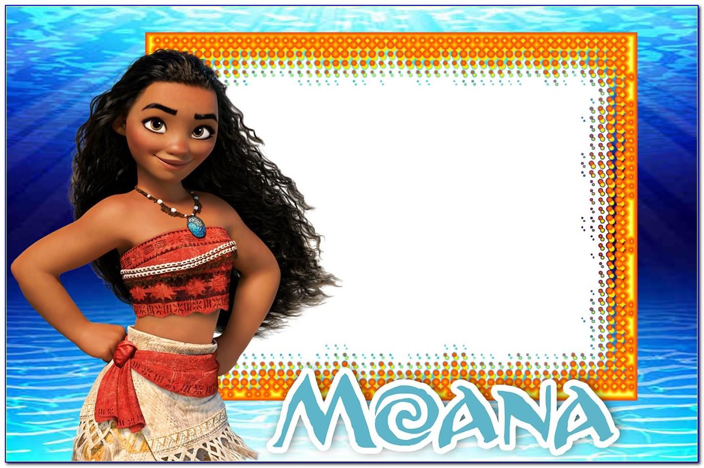Moana Party Invitations Free Template
