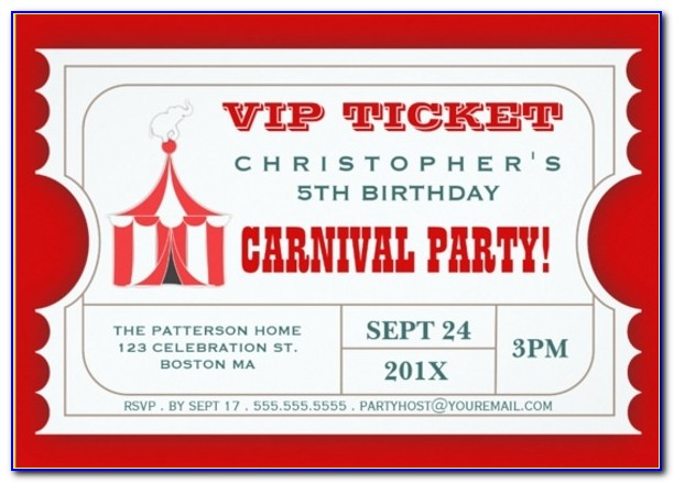 27+ Ticket Invitation Templates – Free Sample, Example, Format Pertaining To Free Printable Ticket Invitations