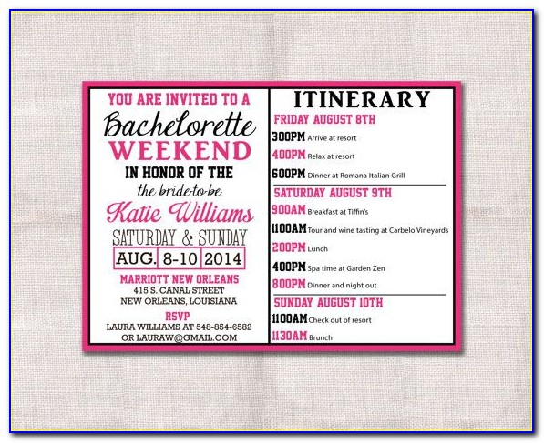 Nashville Bachelorette Party Itinerary Template