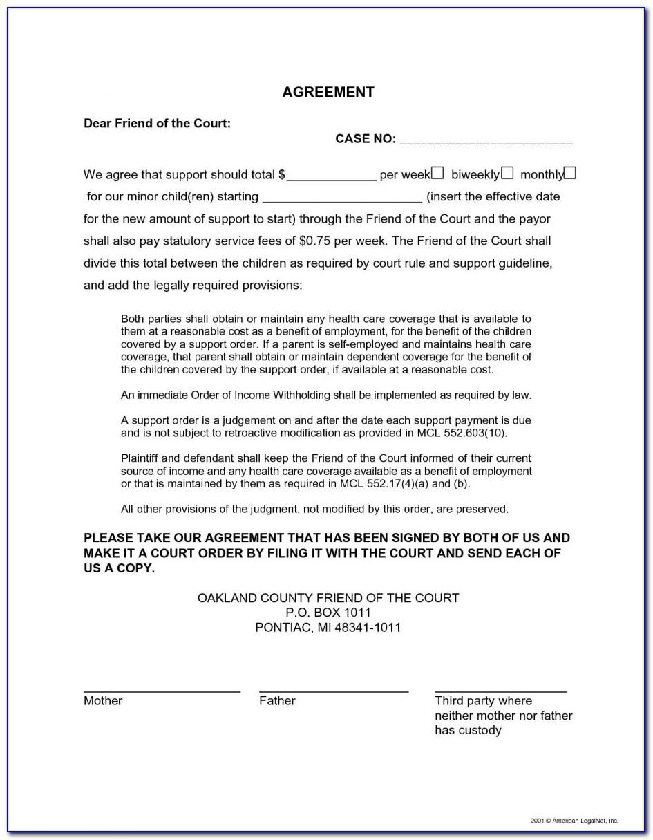 Notarized Custody Agreement Template Uk