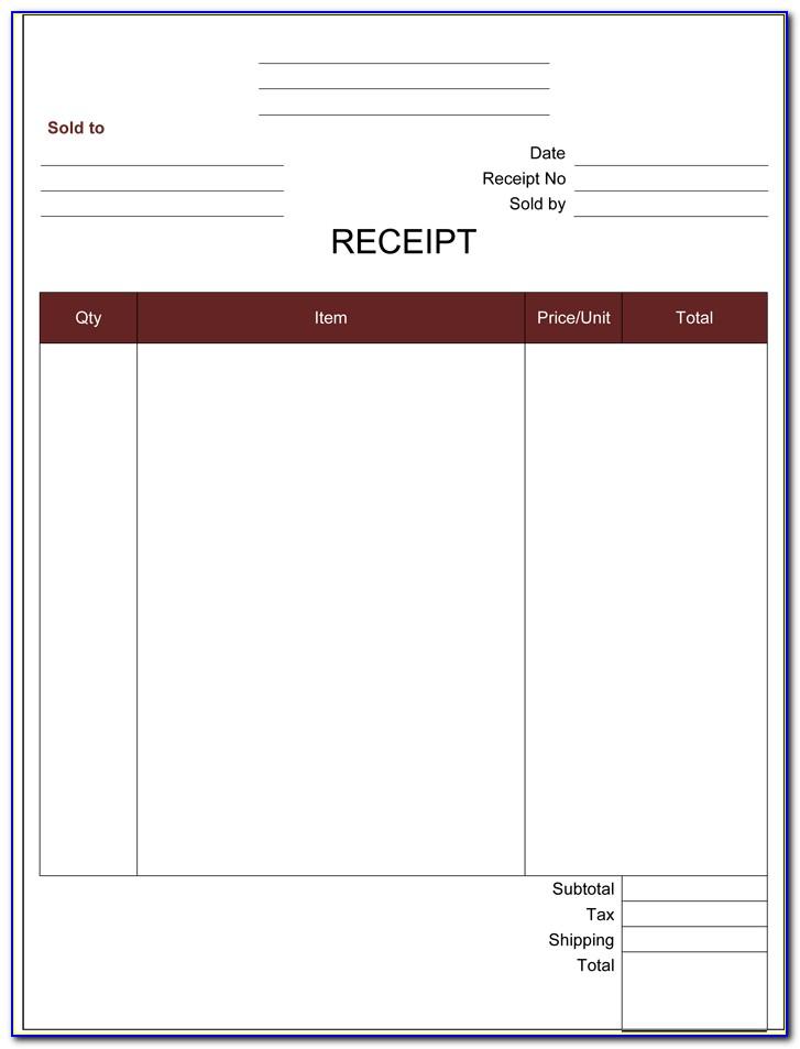 Online Payment Receipt Template