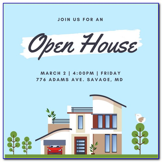 Open House Invitation Template For School