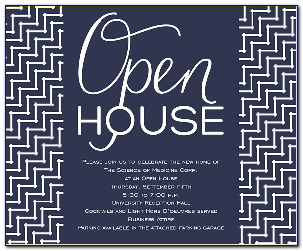 Open House Invitation Template Free