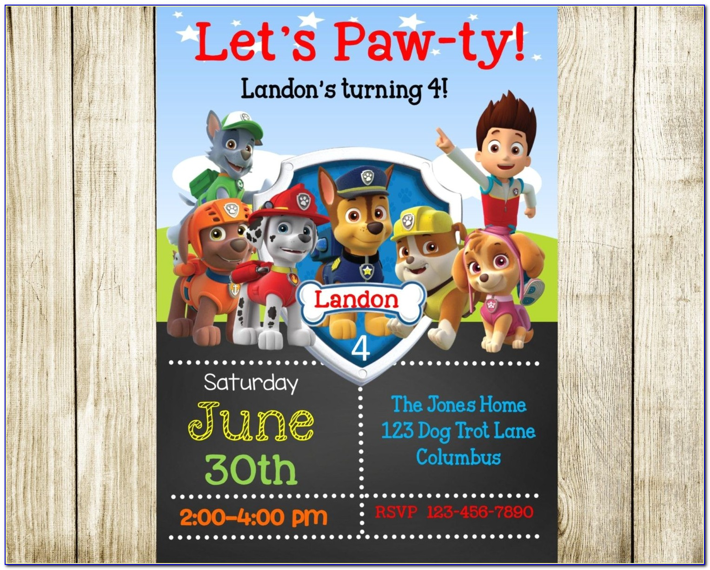 Free Editable Paw Patrol Birthday Invitations Paw Patrol Cake Template Google Search Lucas 39 S 4th