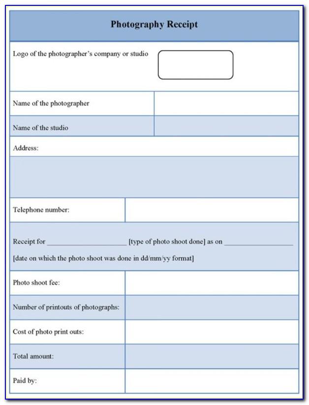Photographer Invoice Template Psd