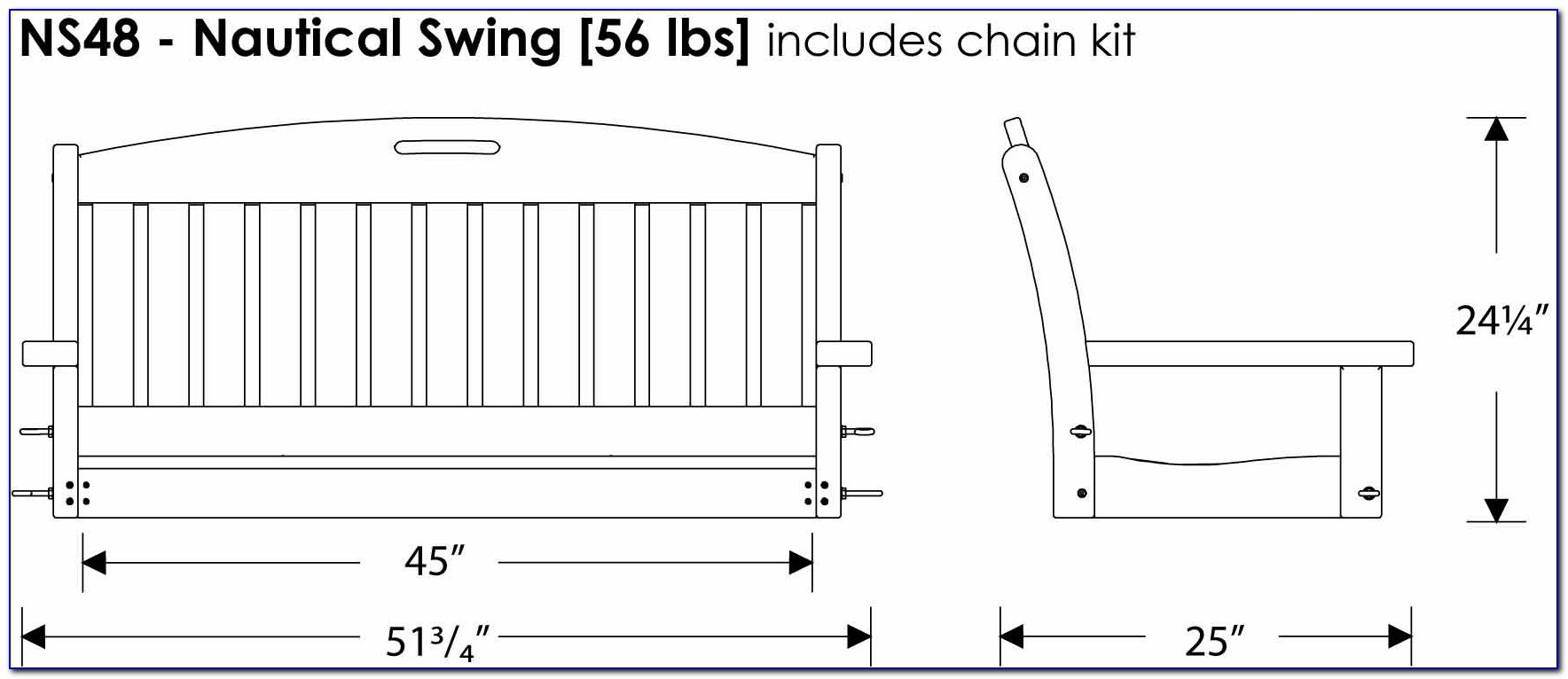 Porch Swing Frame Template