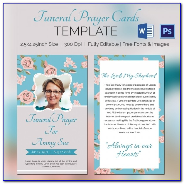 Prayer Card Template Microsoft Word Free