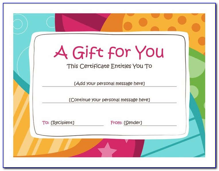 Printable Gift Voucher Template Free