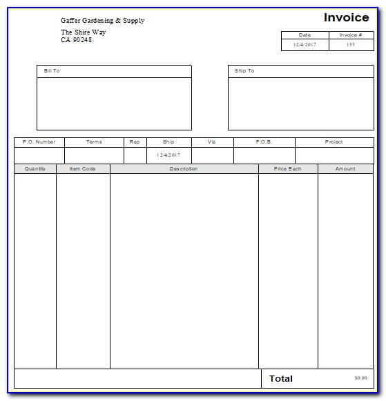 Quickbooks Online Different Invoice Templates