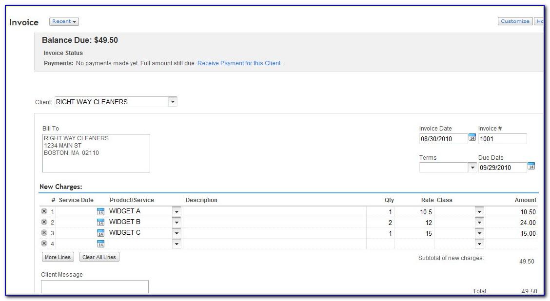 Quickbooks Online Invoice Format