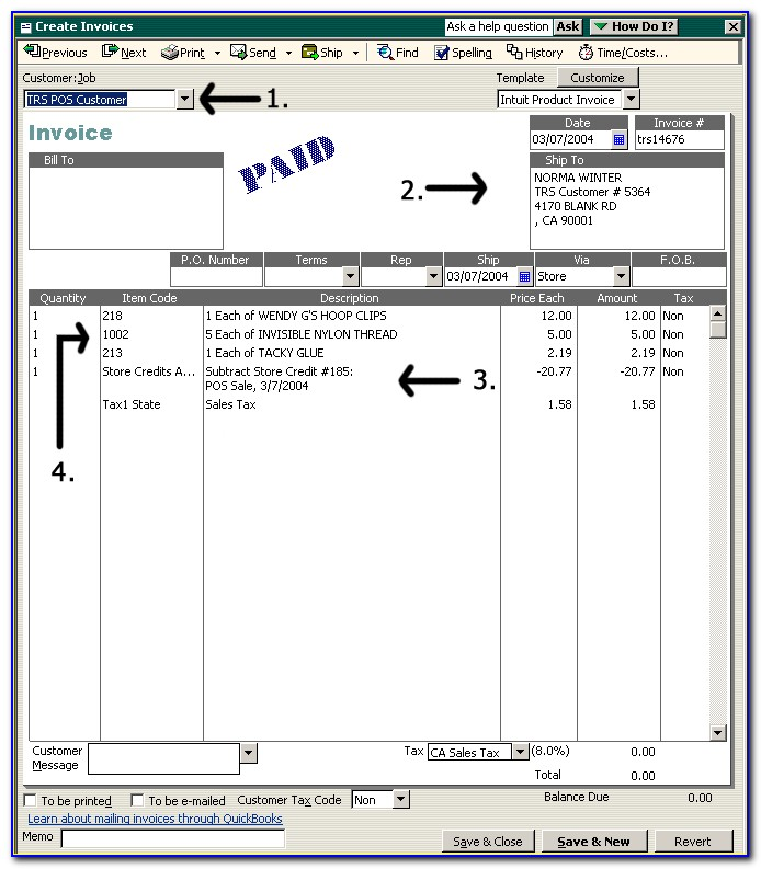 Quickbooks Online Invoice Template With Remittance Slip