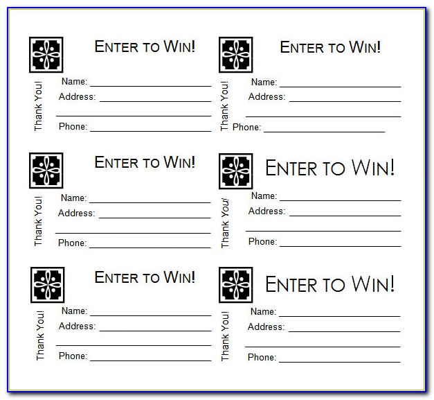 Raffle Ticket Template Word 2010