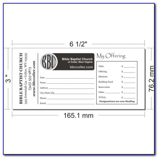 Remittance Envelope Template Free