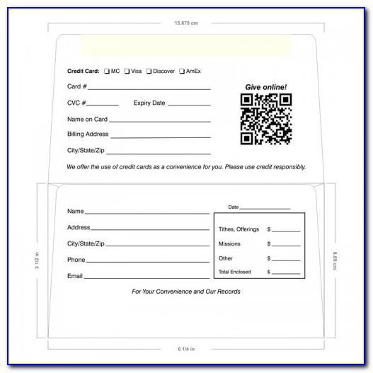 Remittance Envelope Template