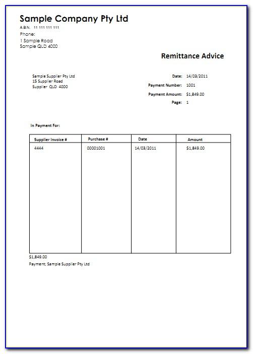 Remittance Envelopes Template
