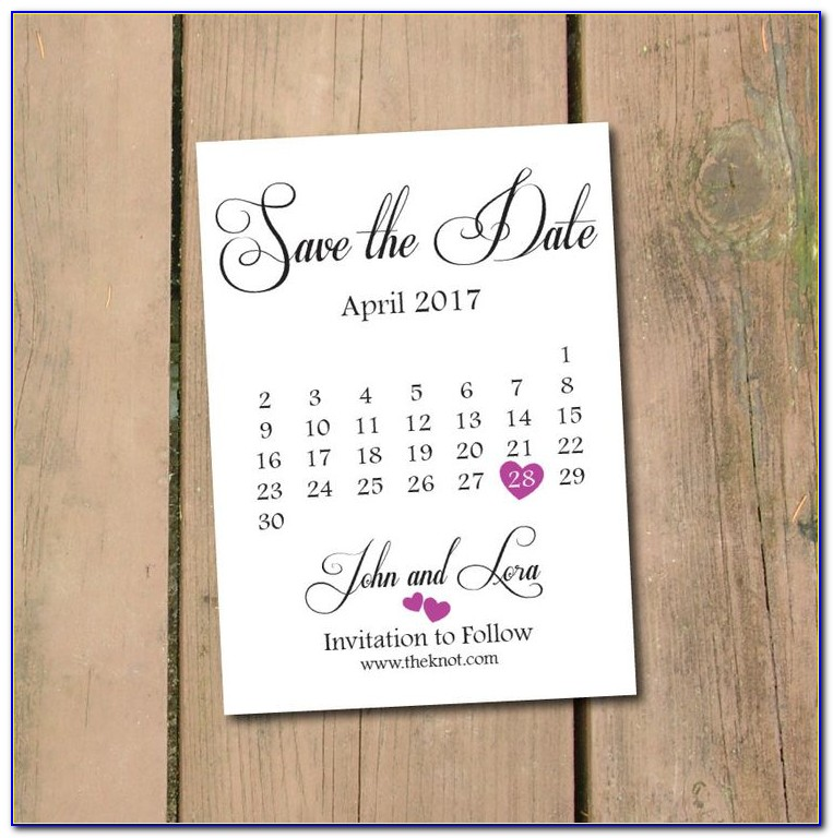 Save The Date Calendar Template 2019 Free