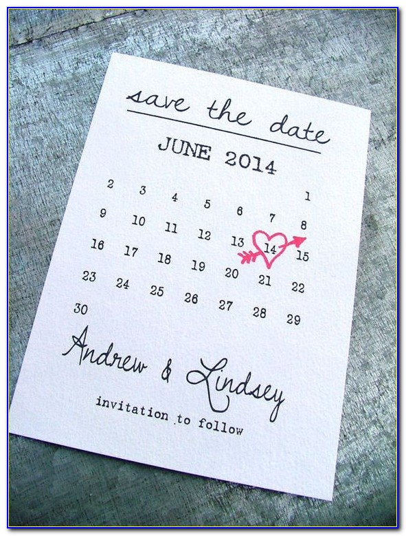 Save The Date Calendar Template 2020