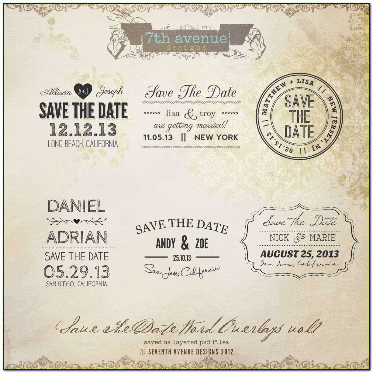 Save The Date Invitations Wording