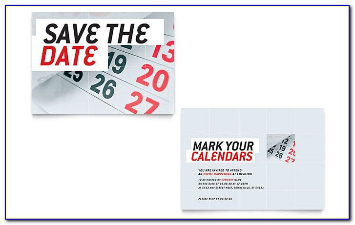 Save The Date Magnet Templates For Word