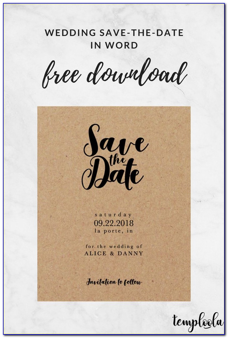Save The Date Templates Microsoft Word