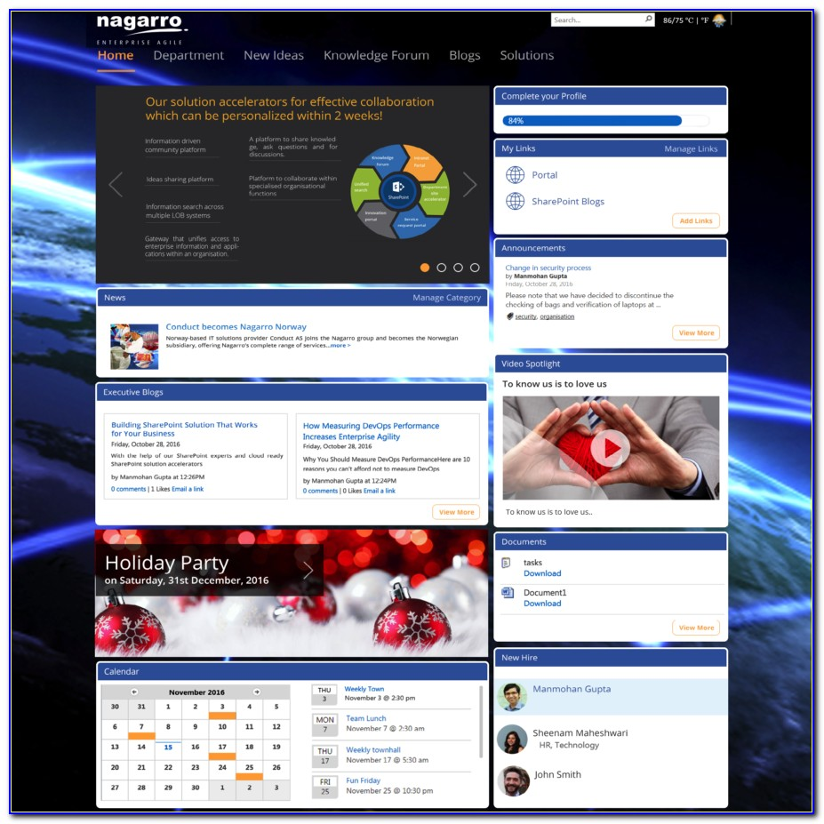 Sharepoint Online Intranet Templates