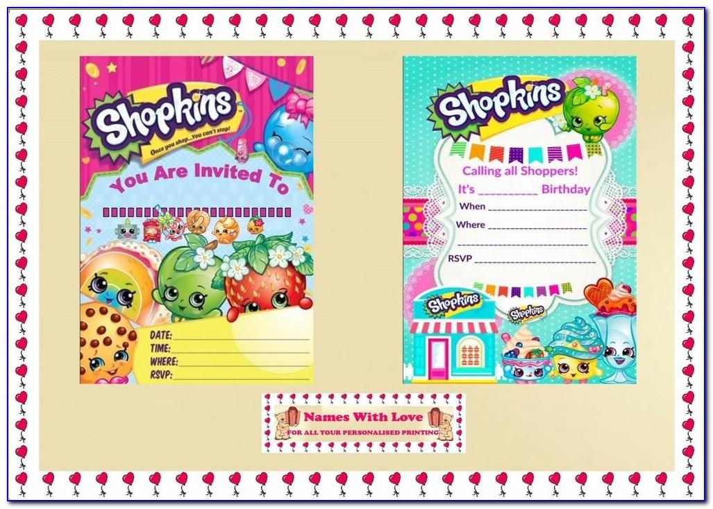 Shopkins Invitations Templates