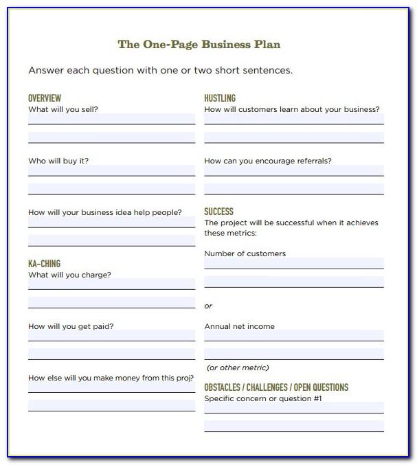 Simple Business Plan Template Word Uk