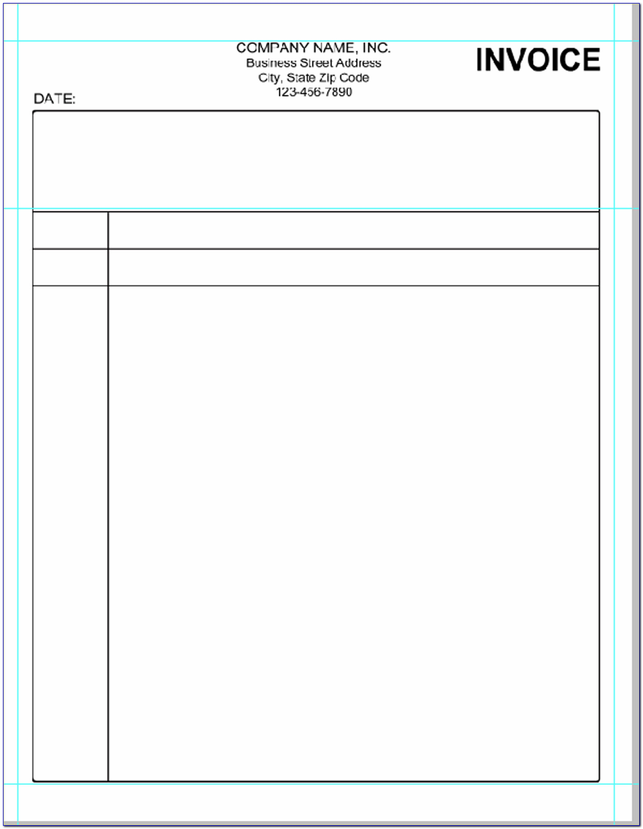 Simple Payment Receipt Template Word