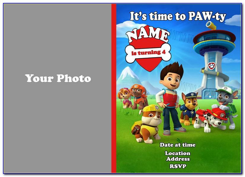 Skye Paw Patrol Birthday Invitation Template Free