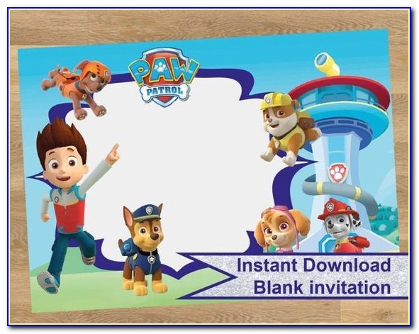 Free Editable Paw Patrol Birthday Invitations Best 25 Paw Patrol Birthday Invitations Ideas On