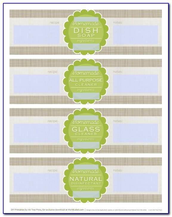 Soap Making Label Templates