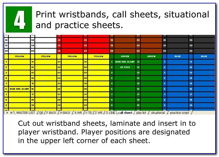 Softball Wristband Template Excel