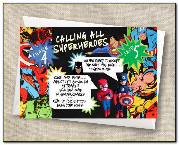 Superhero Invitation Word Template