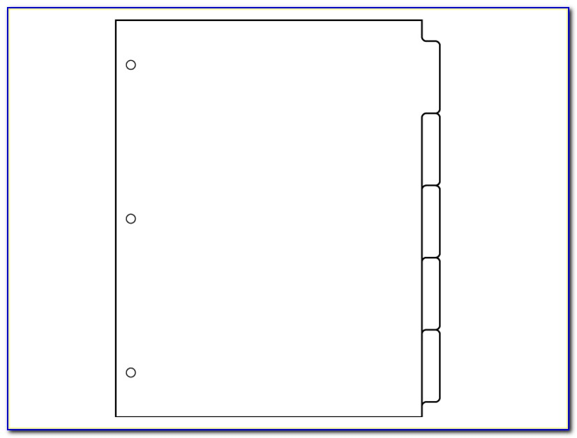 Tab Divider Template Indesign