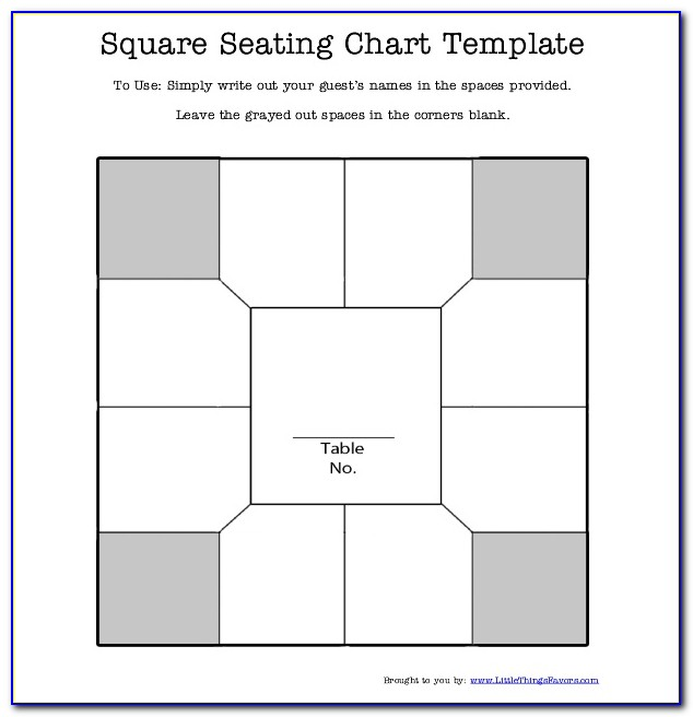 Table Seating Chart Template Excel