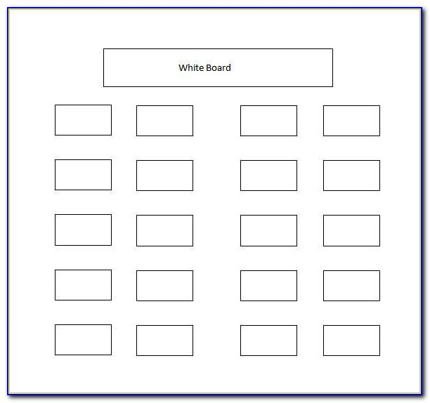 Table Seating Chart Template Free