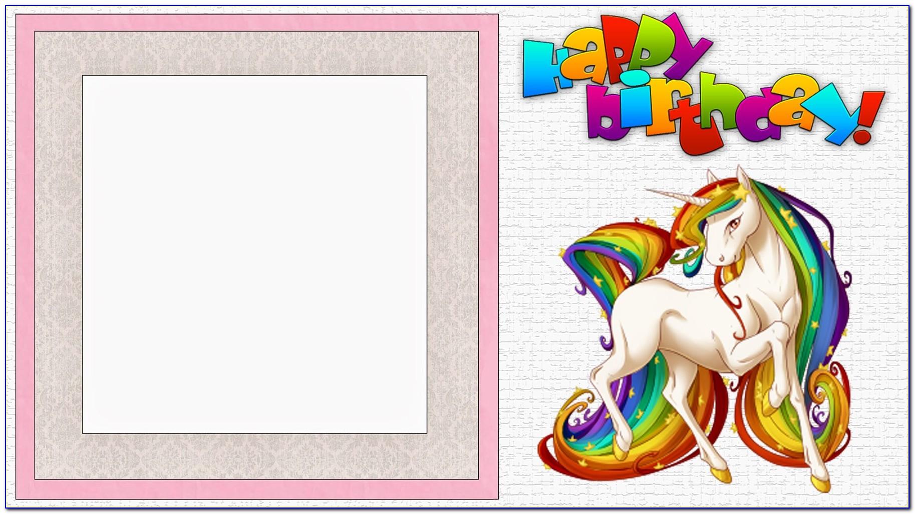 Unicorn Invite Template Free