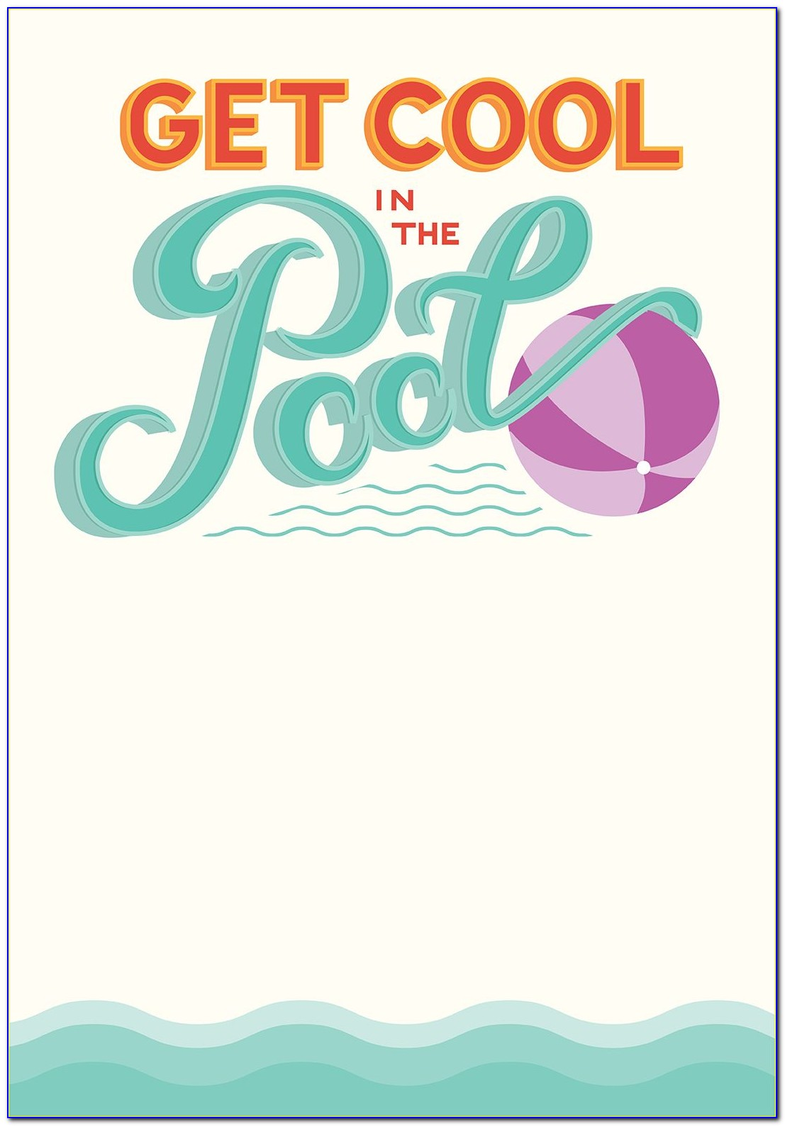 Unicorn Pool Party Invitation Template Free