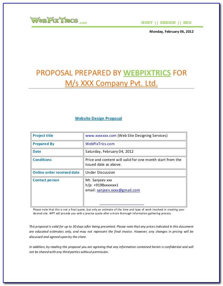 Web Design Proposal Template Download