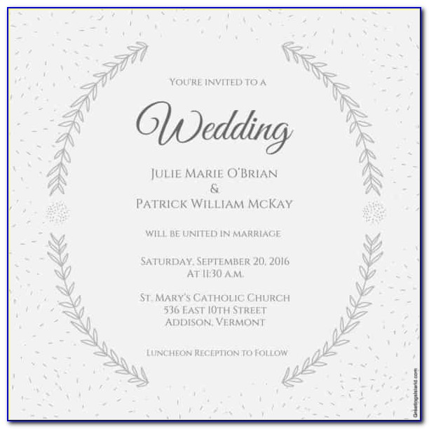 Wedding Announcement Templates Free